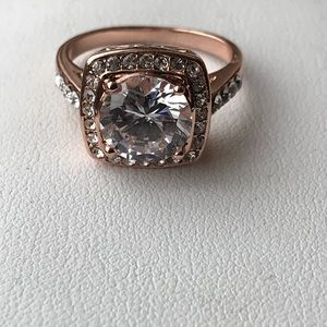 Jewelry - 18k rose gold platinum plated AAA CZ Ring 8